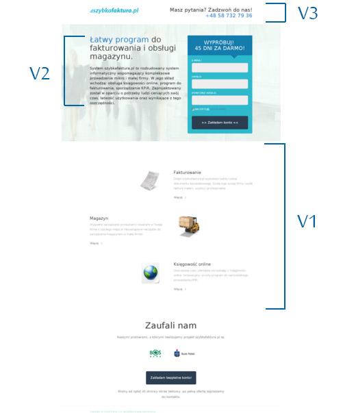 UX Landing page